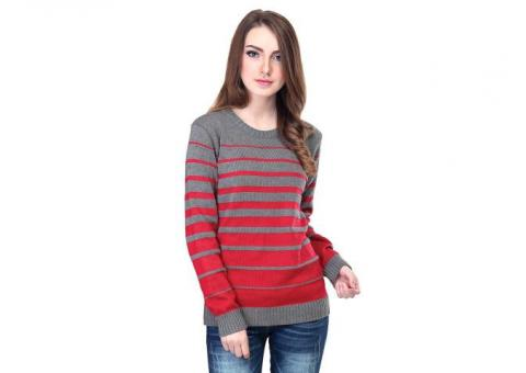 Sweater Rajut Plum Grey