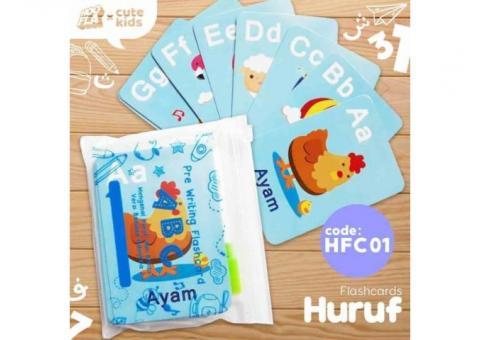 Kartu bermain ABC / kartu alfabet HFC 01 FLASHCARD (HURUF)