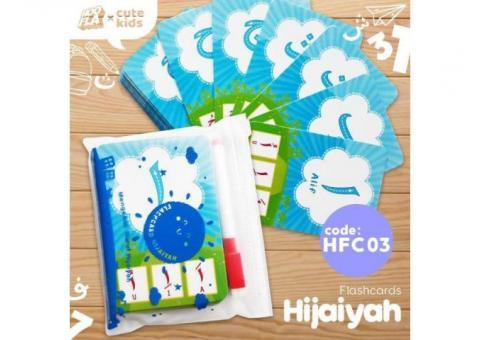 Kartu bermain hijaiyah muslim FLASHCARD