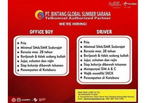 Lowongan Driver PT. BINTANG GLOBAL SUMBER SARANA